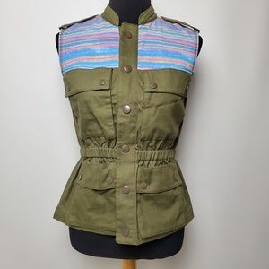 Rachel Roy Women's Military Style Vest Size Small